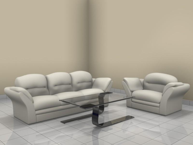 Free Download Blender Sofa Set 3d Model Completely Done