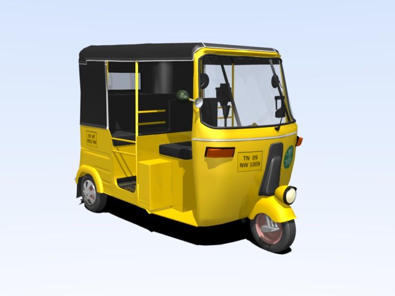 Free download: Blender 3D model of Chennai Autorickshaw - Blog