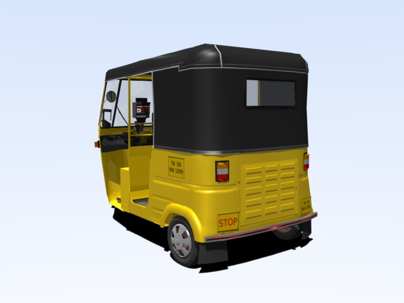 Free download: Blender 3D model of Chennai Autorickshaw | Blog