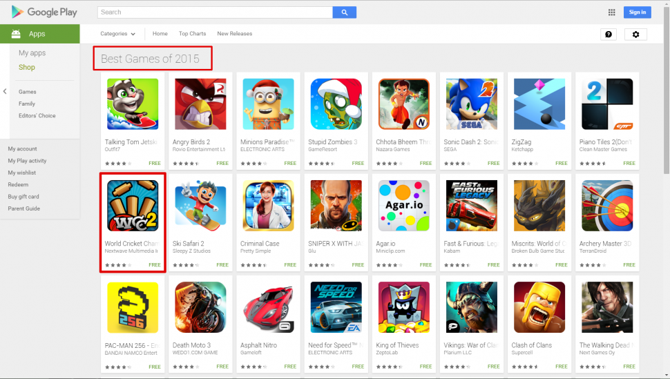 World Cricket Championship 2 makes it to Play store's list ...